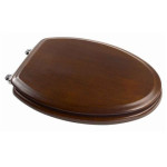 brown elongated toilet seat