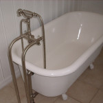 brushed nickel clawfoot tub faucet