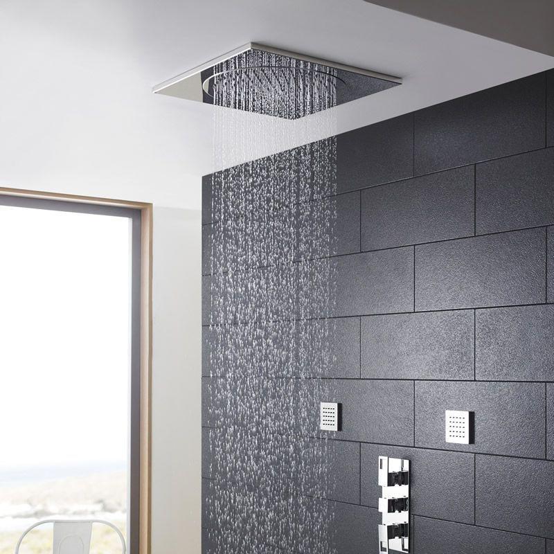 How To Add Rainfall Effect Your Bathroom Brushed Nickel Rain Shower Head