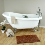 clawfoot tub faucet with handheld shower