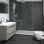 dark grey tile bathroom