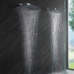 double rain shower head