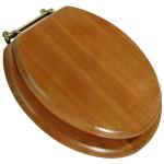 elongated oak toilet seat