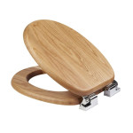 elongated wooden toilet seat