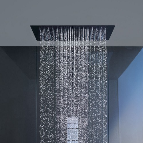 How To Add Rainfall Effect To Your Bathroom U2014 Flush Mounted Rain Shower Head