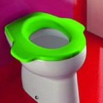 green elongated toilet seat