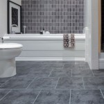 grey bathroom floor tile
