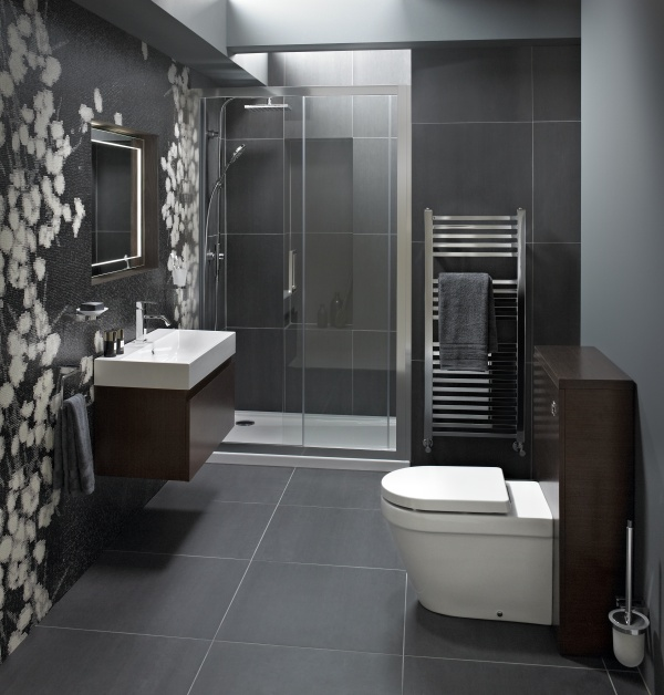 Small grey bathroom ideas beautiful find this pin and for Find bathroom designs