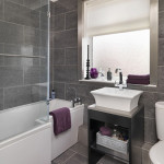 grey ceramic tile bathroom