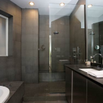 grey slate tile bathroom