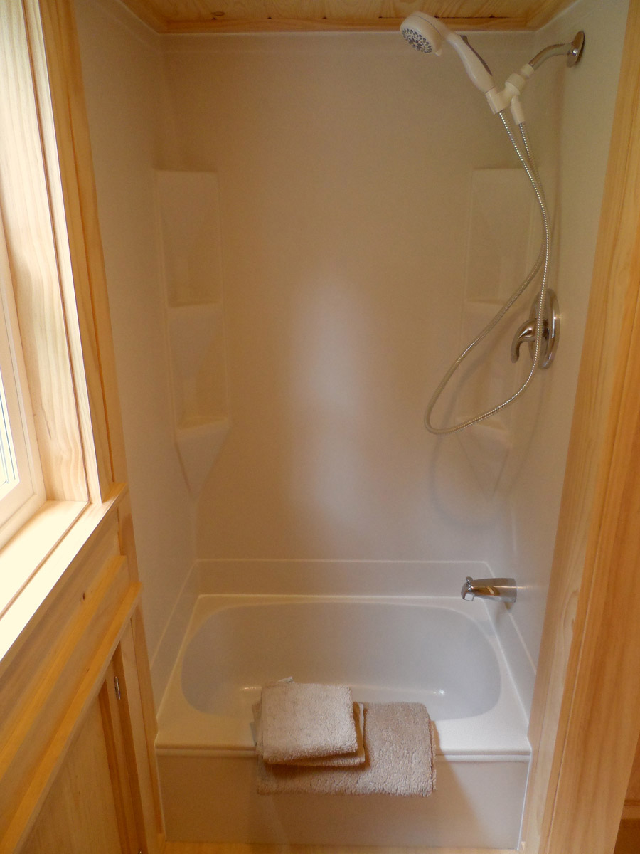 An Ofuro Soaking Tub And Shower Combination For A New
