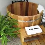 japanese soaking tub wood
