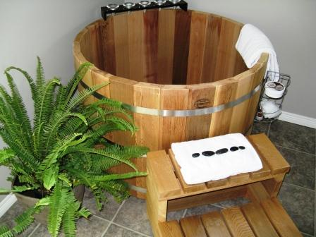 japanese soaking tub wood