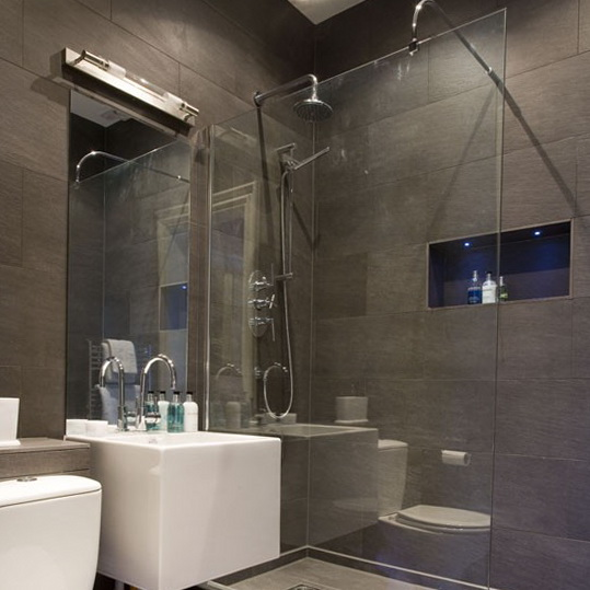 grey slate tile bathroom - top 3 grey bathroom tile ideas