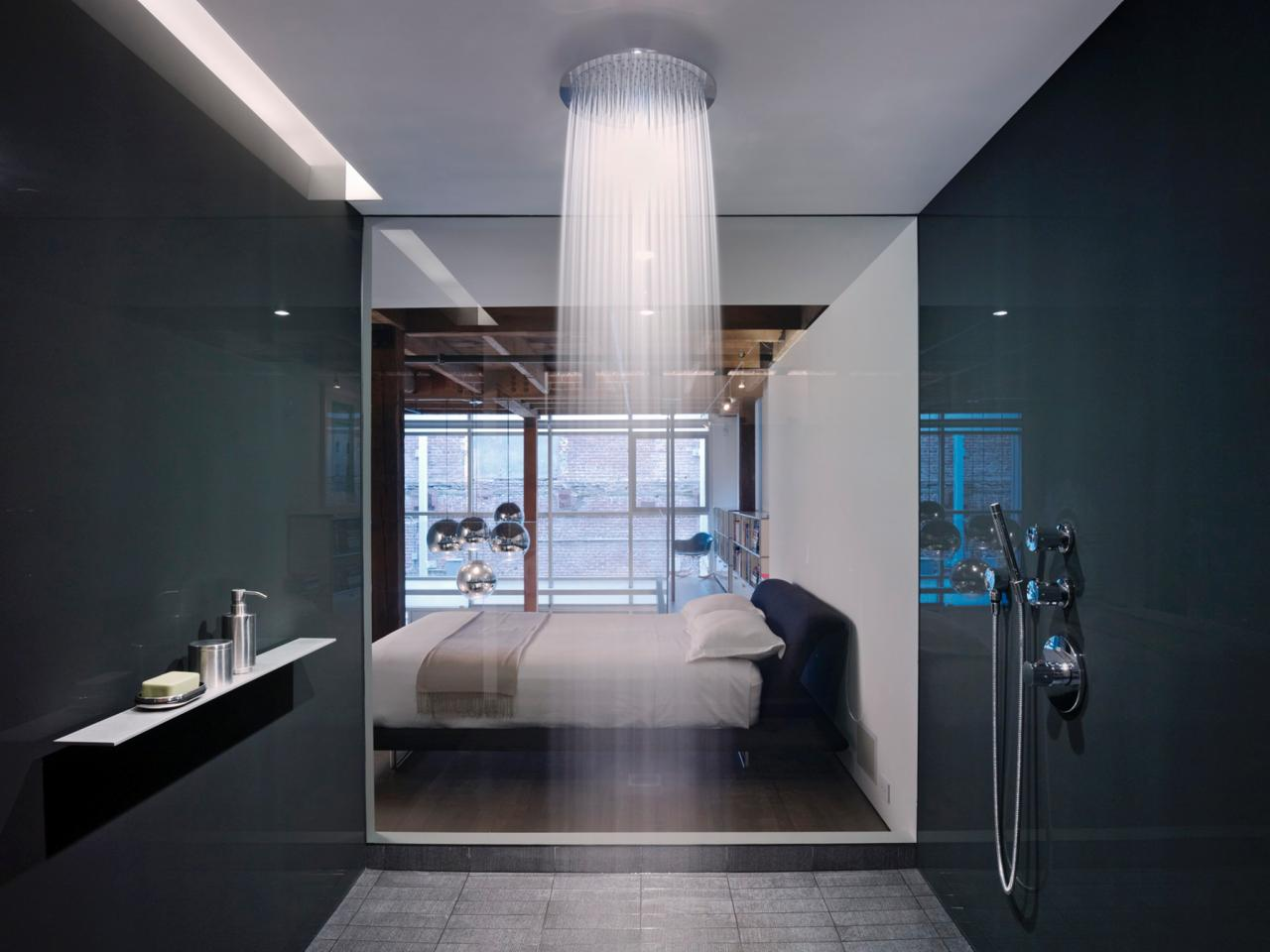 large rain shower head