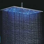 large rectangular rain shower head