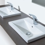 large square bathroom sink