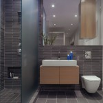 modern bathroom grey tile