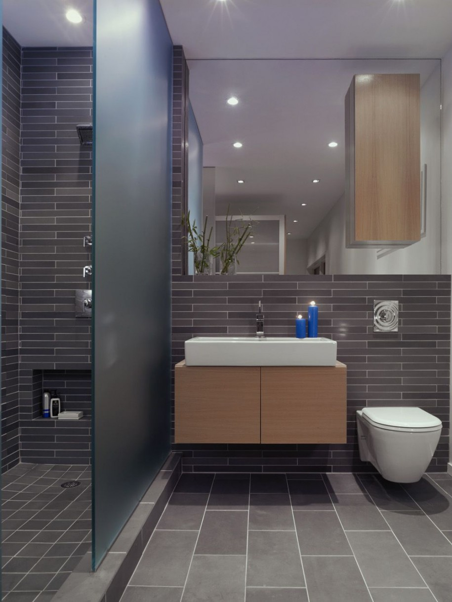 modern bathroom grey tile - Top 3 Grey Bathroom Tile Ideas ...
