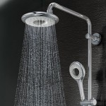 rain shower head with handheld