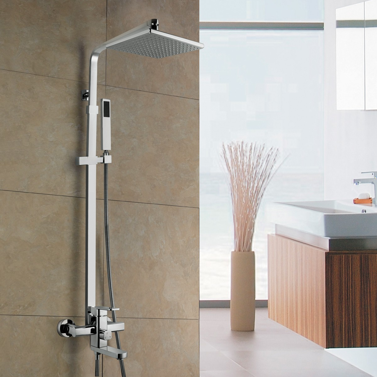 How To Add Rainfall Effect Your Bathroom Rain Shower Head With Handheld Sprayer