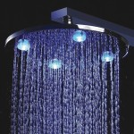 rain shower head with light