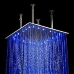rain shower head with lights