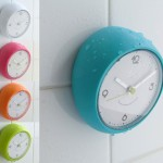 small bathroom clock