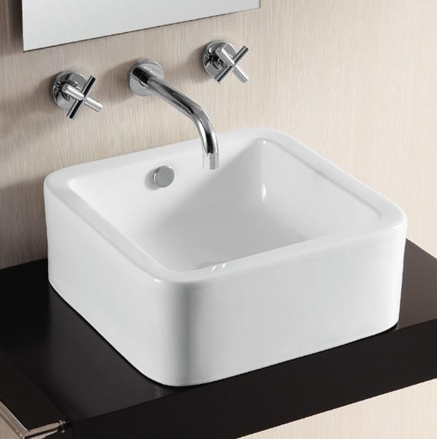 Square Bathroom Sink Contemporary Looking Elegance Bath