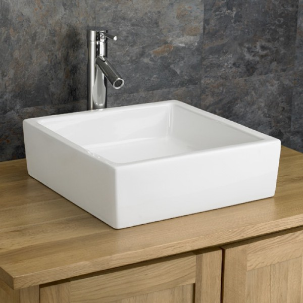 Square Undermount Bathroom Sinks Ps 105 20 White