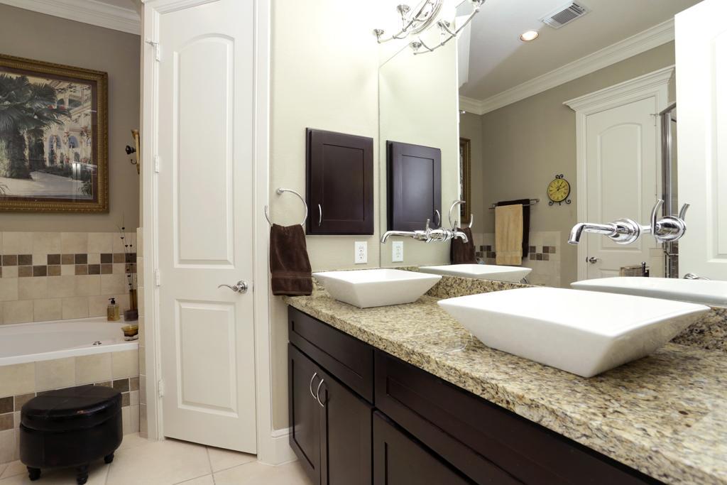 square double bathroom sink