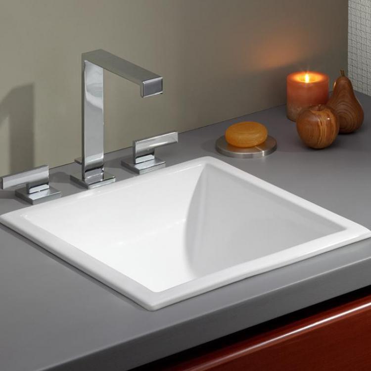 Square Bathroom Sink Contemporary Looking Elegance Undermount