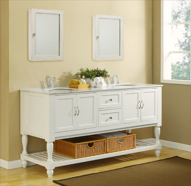 Contemporary Vintage Bathroom Vanity Decoration