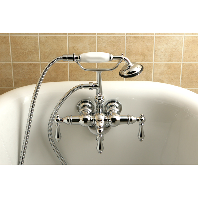 wall mount clawfoot tub faucet handheld shower. Clawfoot faucets are called so because they attached to a clawfoot tub  Designed resemble vintage bathtub accessories feature Faucets For Bathtubs DecorIdeasBathroom com Best bath