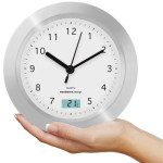 water resistant clock for bathroom