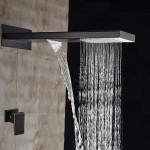 waterfall rain shower head