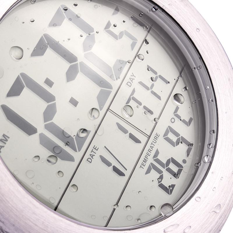 waterproof bathroom wall clock