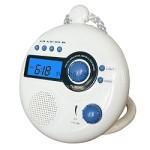 waterproof clock radio for shower