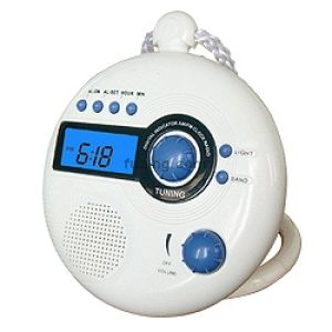 Shower Clock As Modern Bathroom Gadget Waterproof Radio For