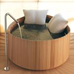 wood japanese soaking tub
