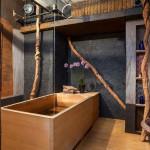 wooden japanese soaking tub