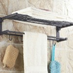 bathroom towel rack shelf wall mounted