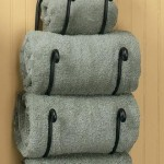 bathroom wall towel rack