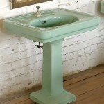 blue pedestal sink