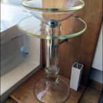 glass pedestal sink