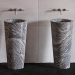 granite pedestal sink