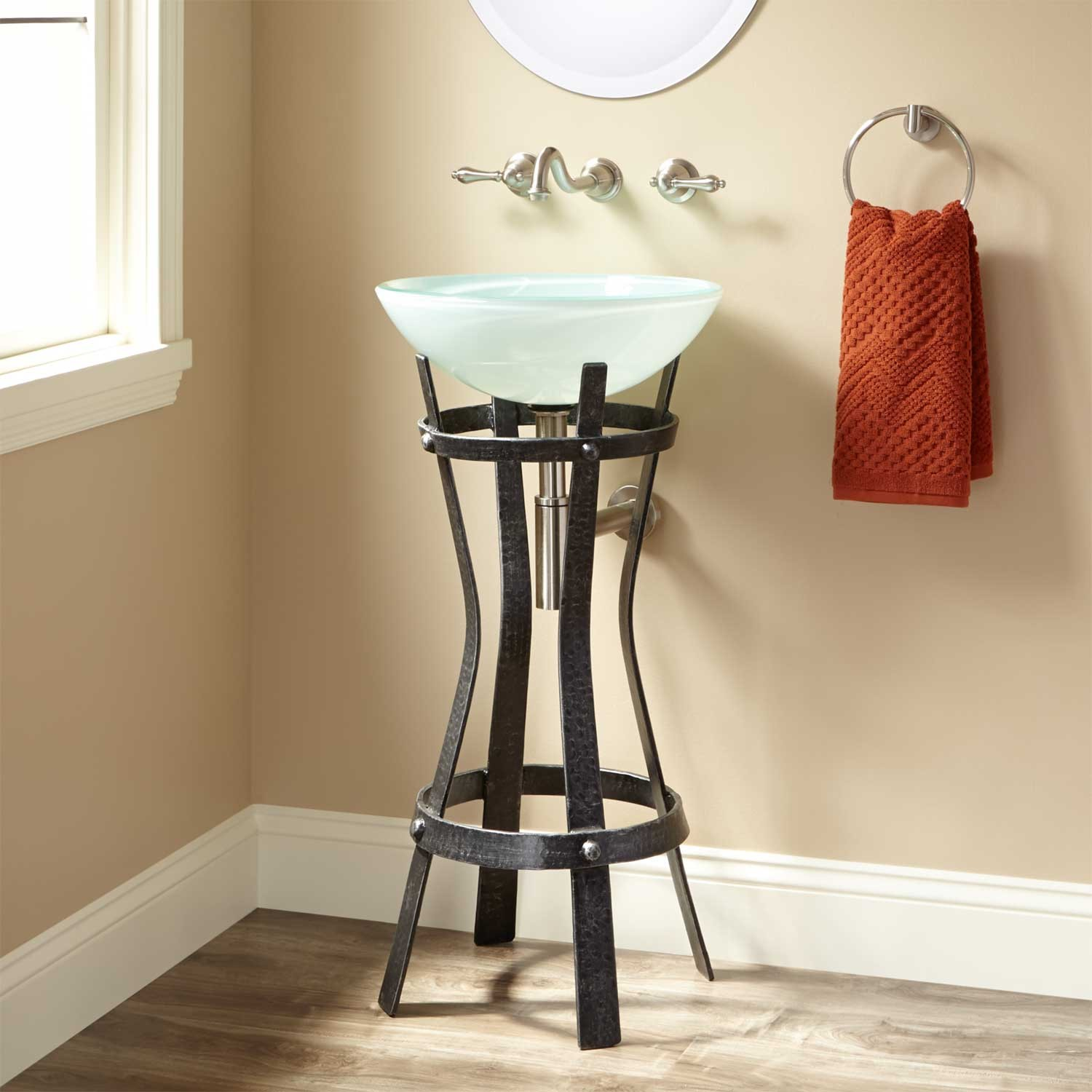 Metal Pedestal Sink