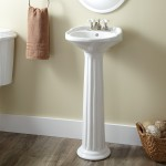 narrow pedestal sink