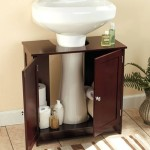 pedestal sink with storage