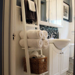 wood towel rack for bathroom